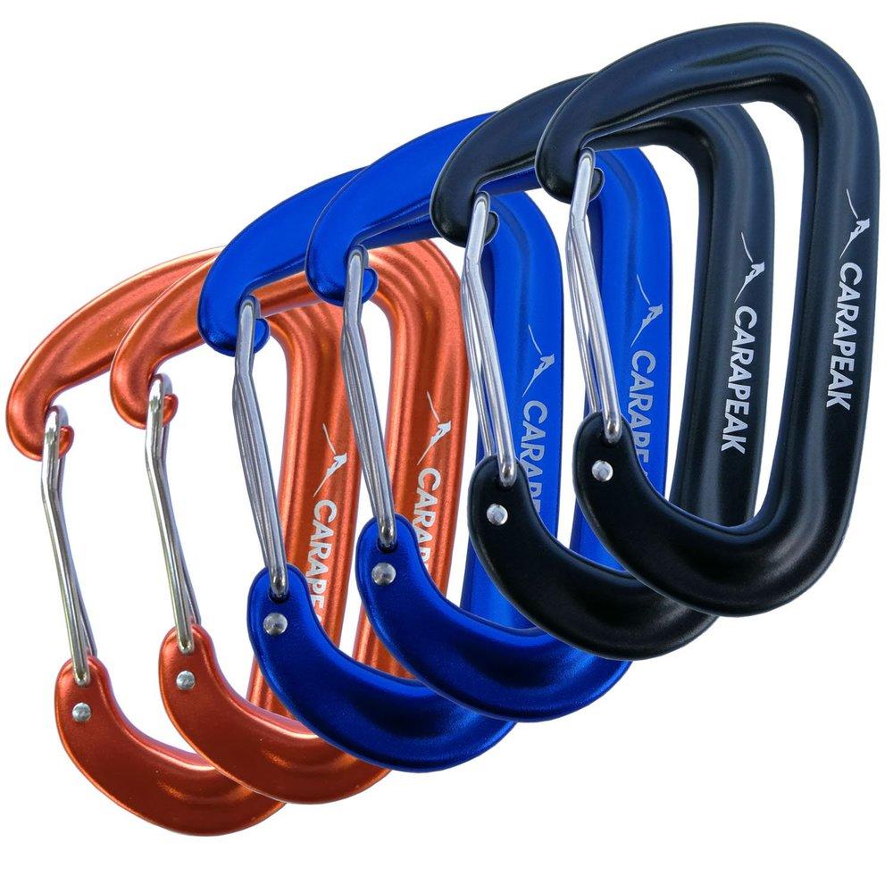 CARAPEAK 12KN Mini Wiregate Aluminum Lightweight Snag Free Carabiners -