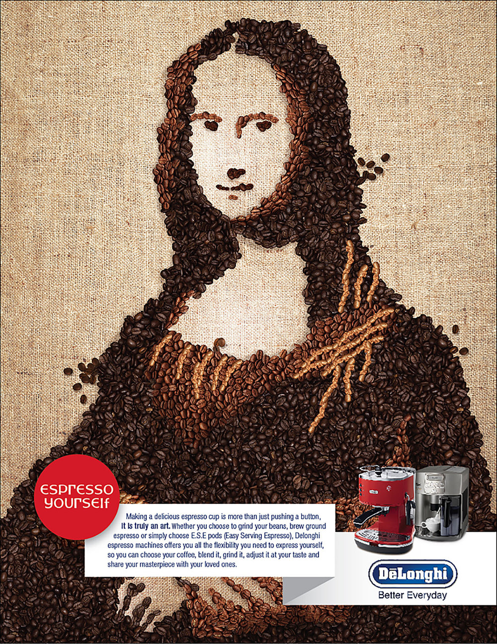 Delonghi 'Mona Lisa' Press Ad
