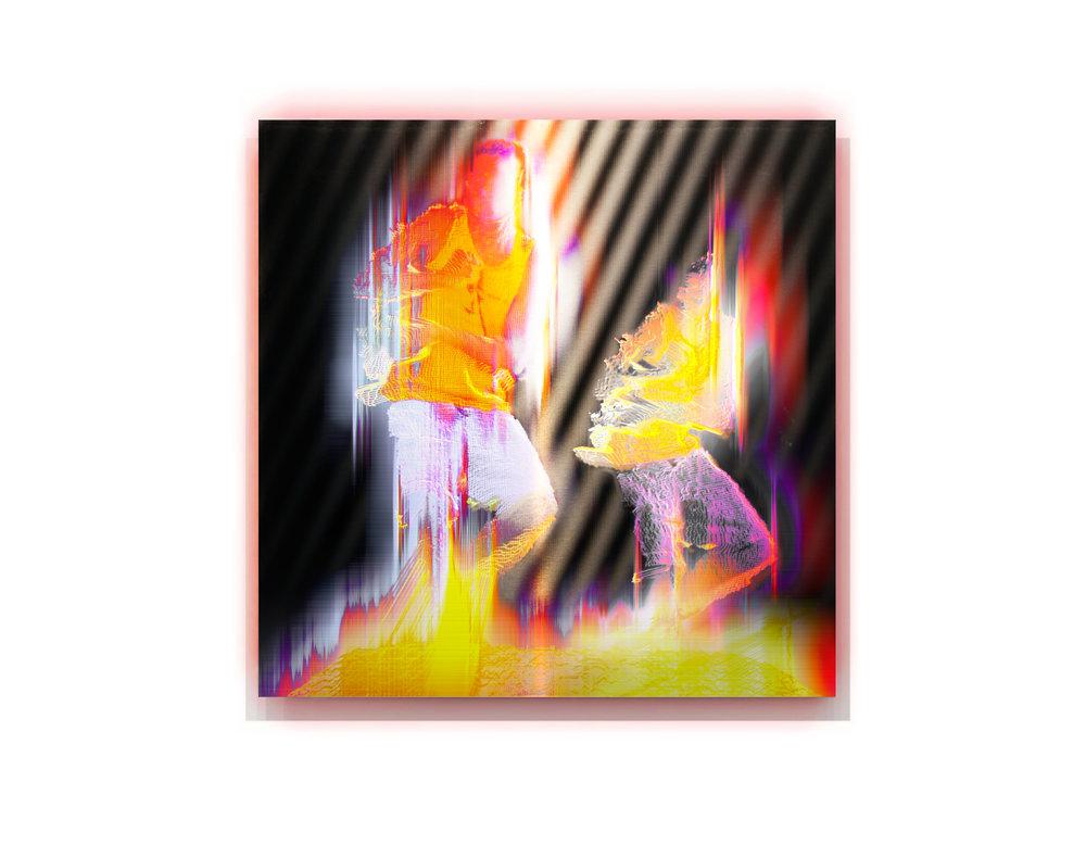 Everywhen   2016, pigment and enamel on acrylic and aluminium, 120cm x 120cm