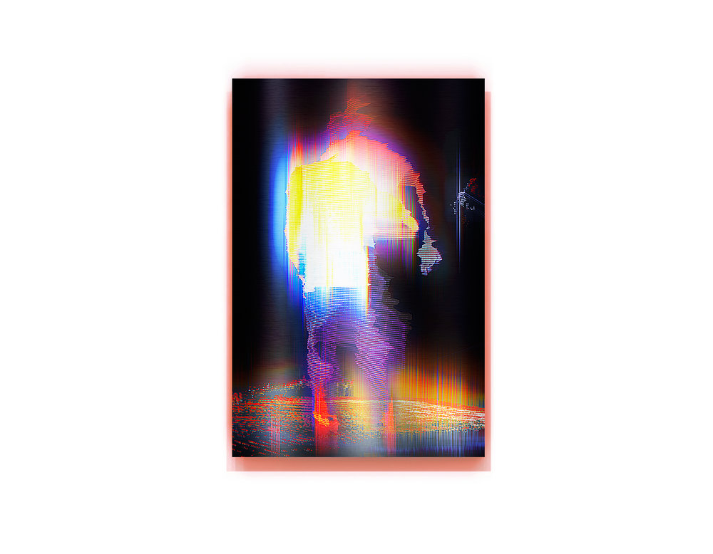 Moving Shadow   2016, pigment and enamel on aluminium, 120cm x 80cm