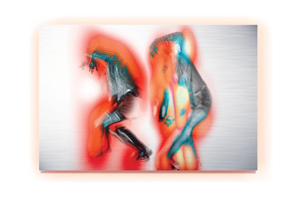 Dark Matter Sketch 2  2014, pigment and enamel on aluminium, 80cm x 120cm
