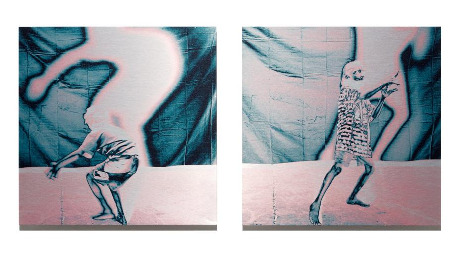 Dust Glimmer   2012, pigment on aluminium, 40cm x 85cm, private collection