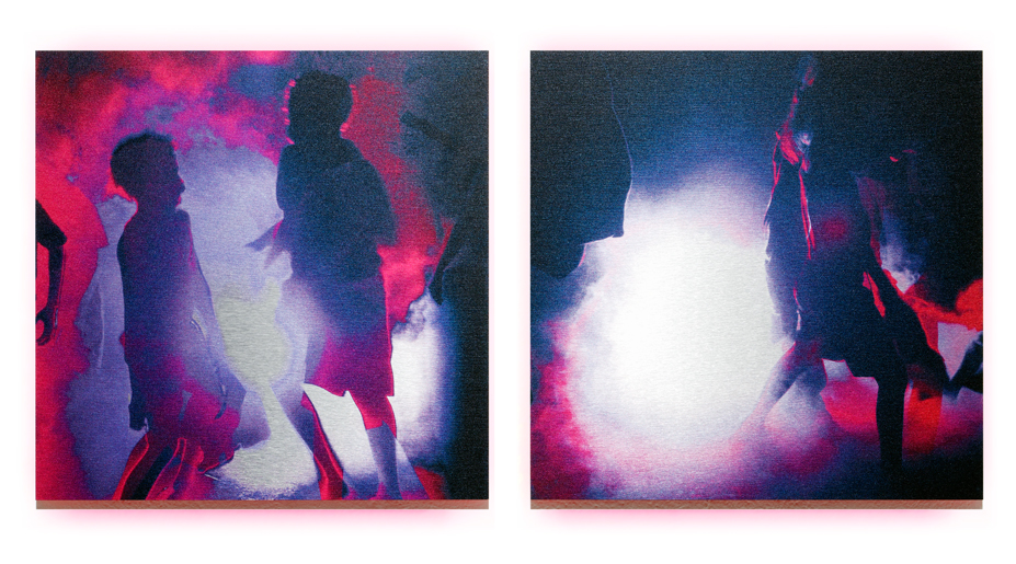 Flashlight   2012, pigment, enamel on aluminium, 40cm x 85cm, private collection