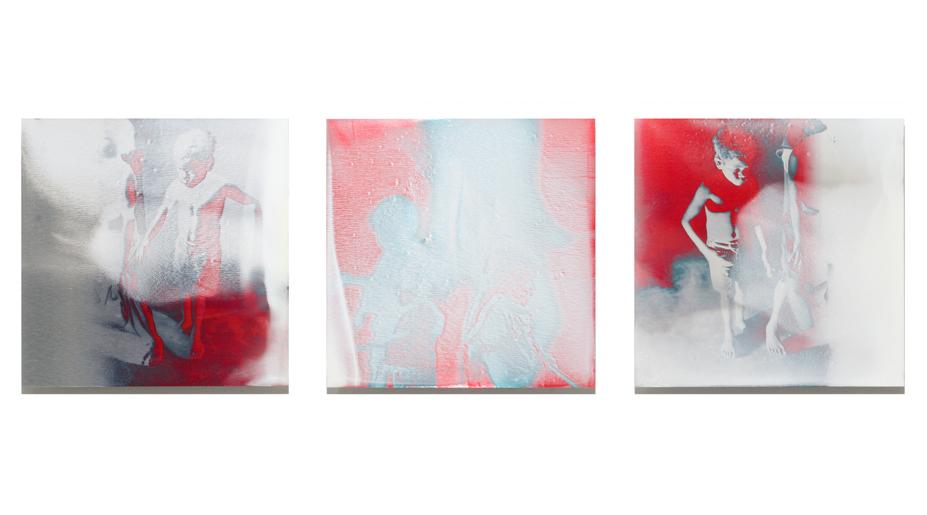 Ghost Dance   2012, pigment, enamel on aluminium, 40cm x 130cm, private collection