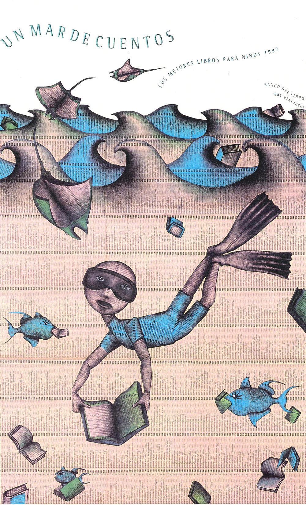 "Poster for ""The Best Children's Books"", Banco del Libro, Ibby Venezuela. Caracas 1997"