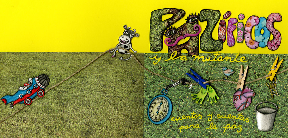 """CD Jacket for the audiobook """"Pazificos y La Mutante"""". Venezuela 2011."""