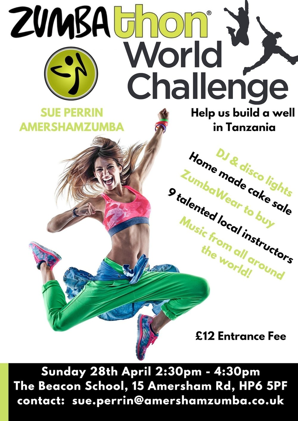 COme to our zumbathon! - Raise money for a great cause and get fit and have fun while you're doing it!
