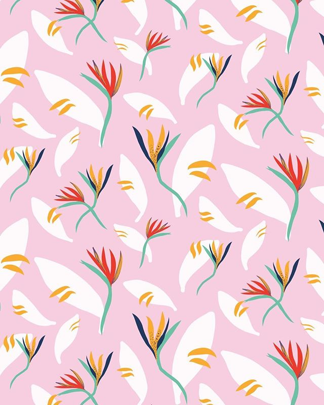 Dreaming about tropical wibes today. Summer I miss you! #printandpattern #surfacedesign #surfacepatterndesign #tropicalpattern