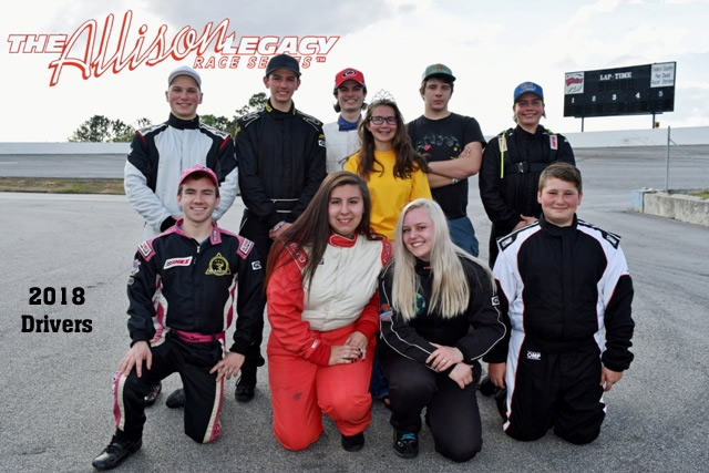 The 2018 Drivers. See below for the 2019 Schedule for the Allison Legacy Race Series.
