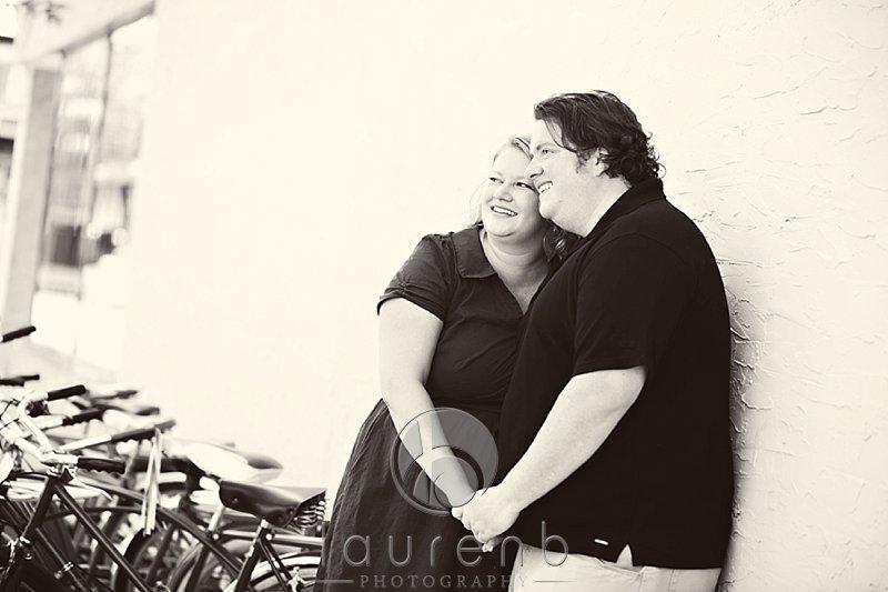 couple's engagement session uptown Minneapolis bikes