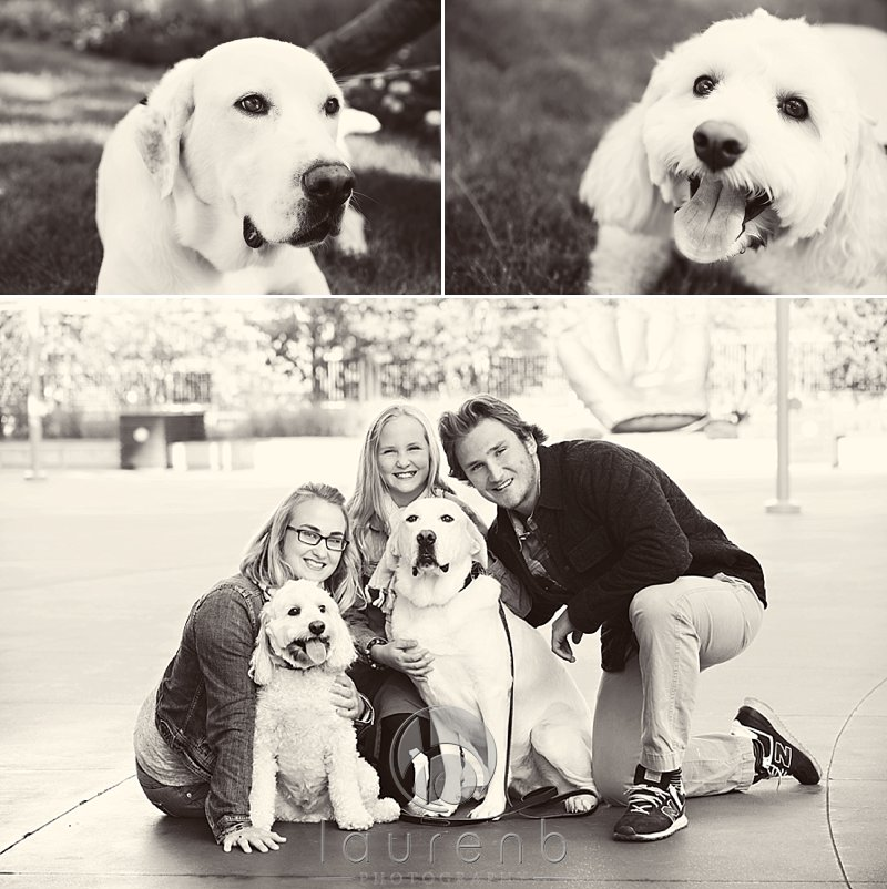 siblings and dog portraits Minneapolis