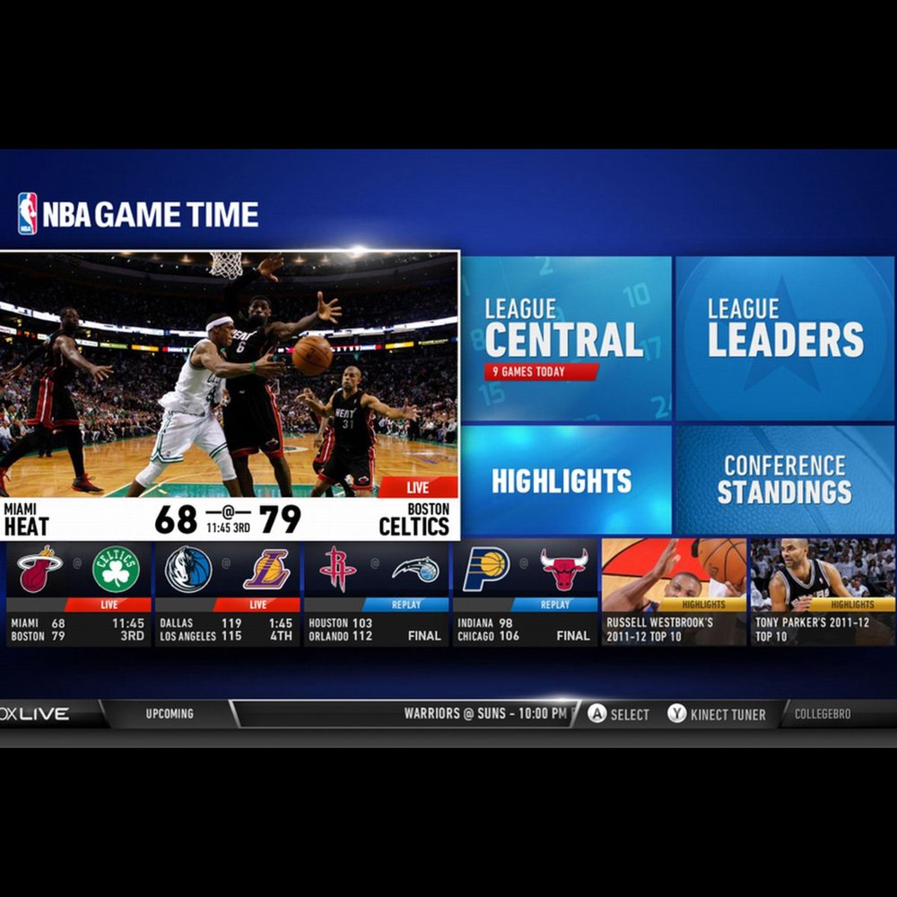 NBA Gametime App on XBox Live