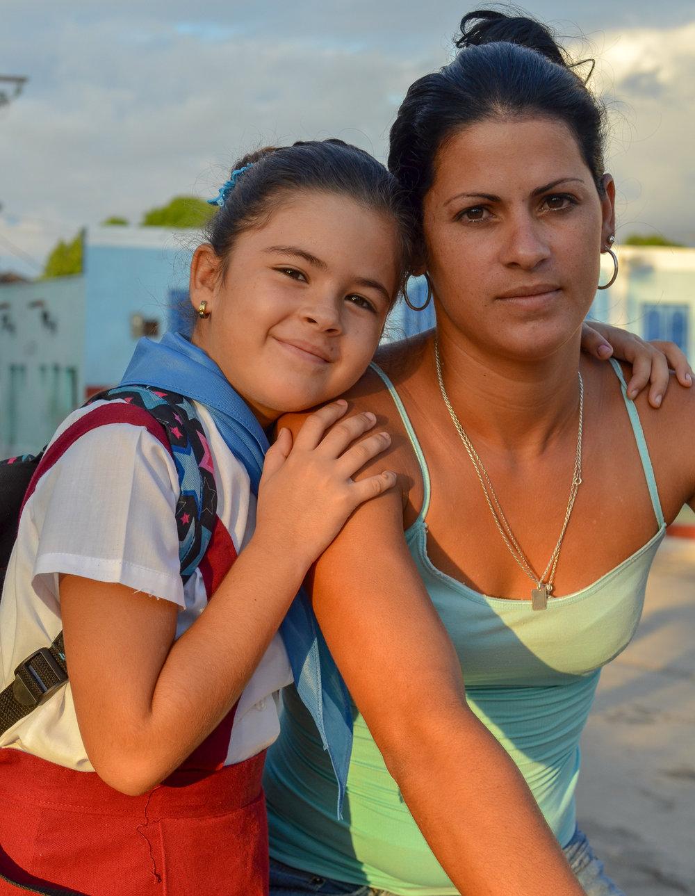 School Girl and Mom Trinidad Cuba 2015.