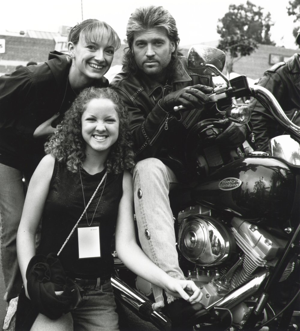 Billy Ray, Miley Cyrus & Friend - Love Ride Glendale CA 2002