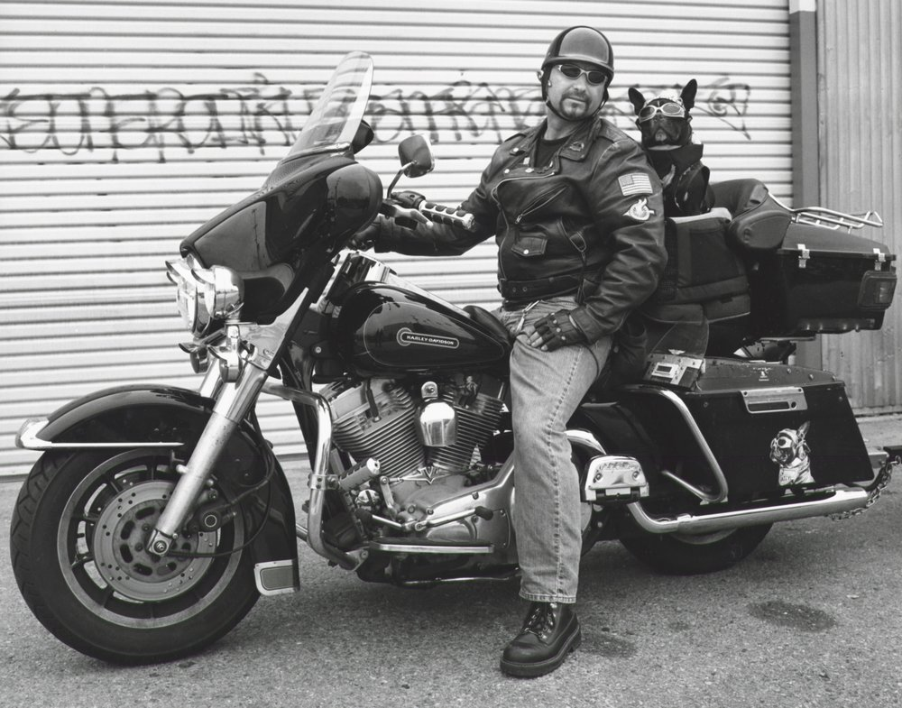 Harley Rider With Dog - Glendale CA 2002