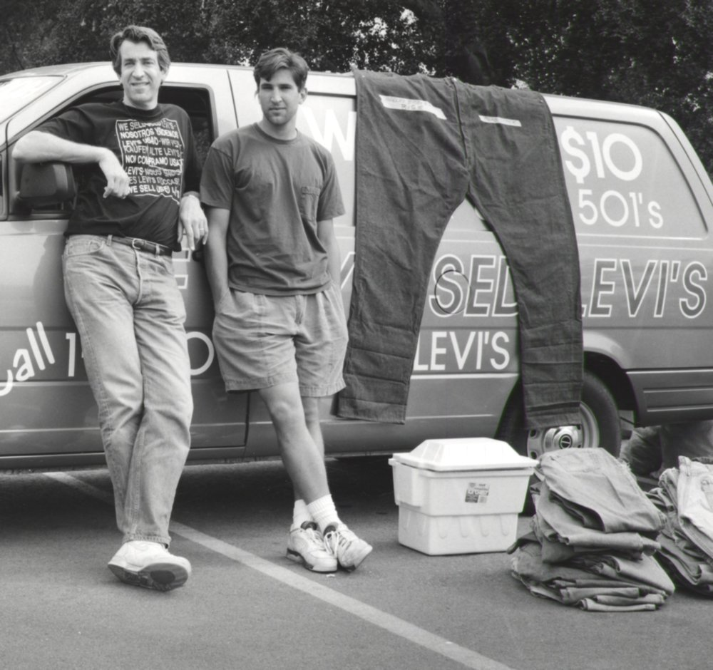 Father & Son Selling Levi's - Pasadena CA 1993