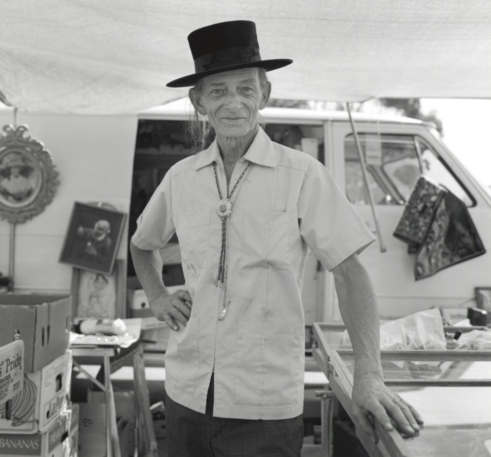 John Woods Wearing Top Hat - Pasadena CA 1991