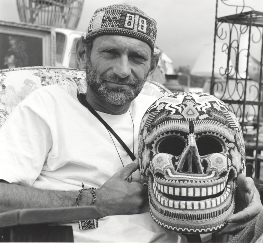 Robert With Beaded Skull - Pasadena CA 1994