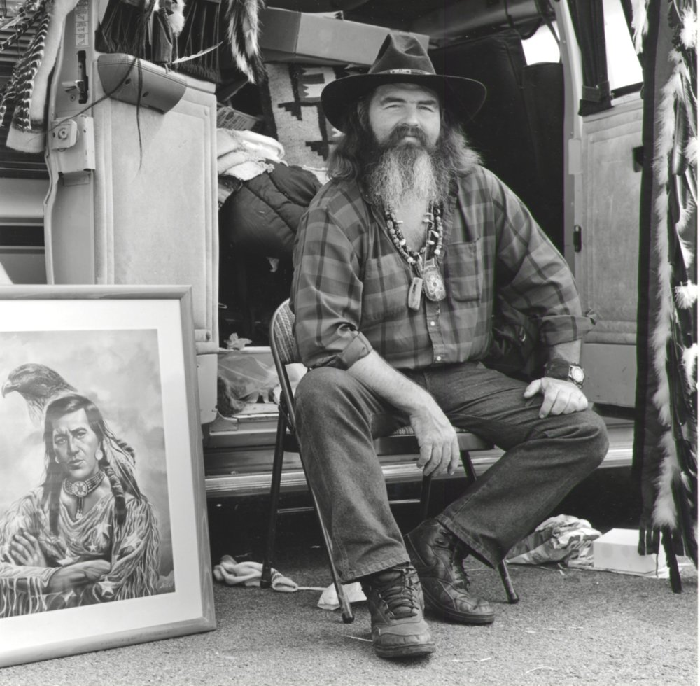 Vendor Selling Western Art - Pasadena CA 1995