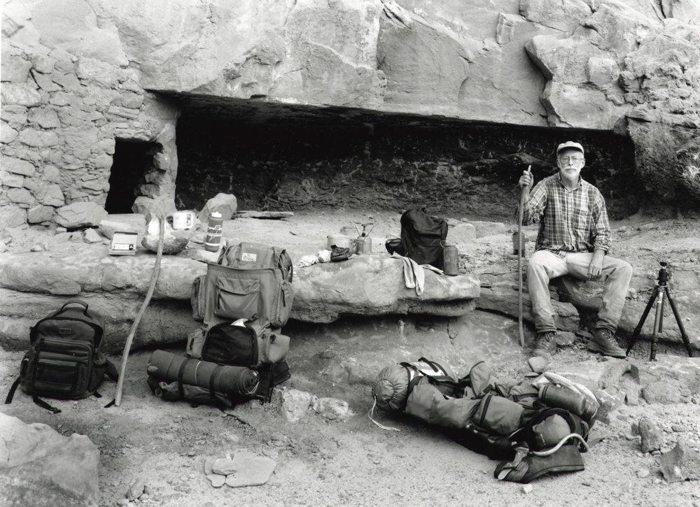 Hiking w/ Ray Grand Gulch Utah 1997