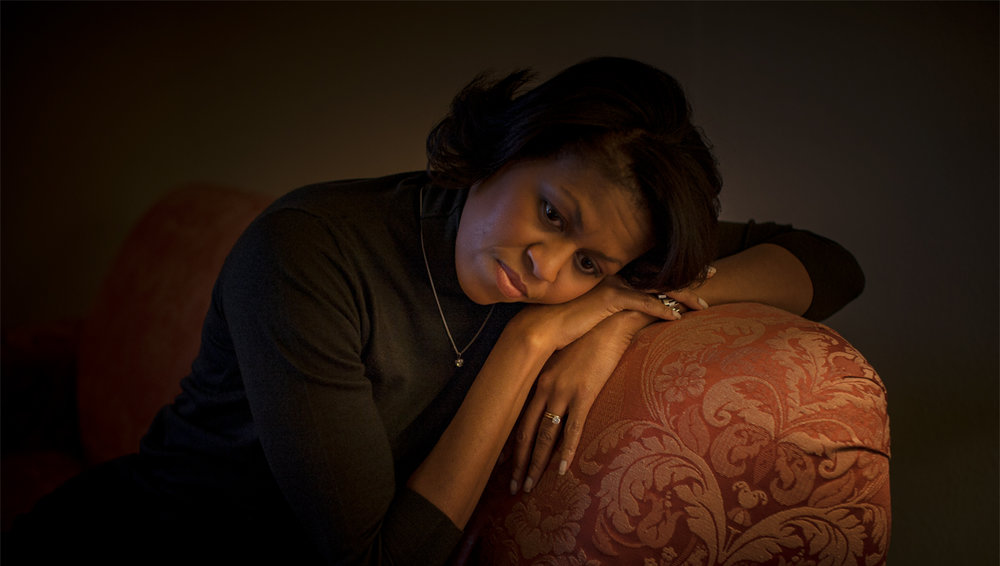 Michelle Obama from Hope, Never Fear, image copyright © Callie Shell
