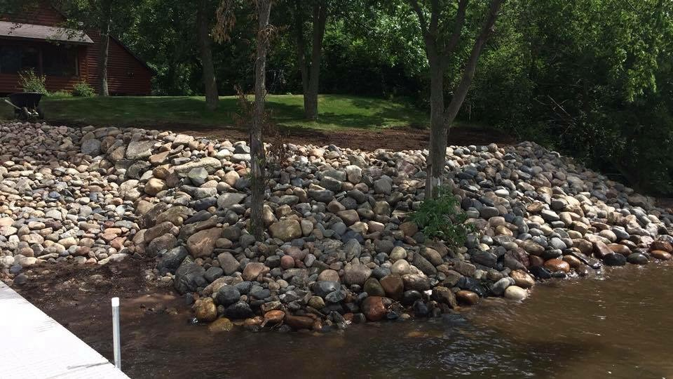 Rock Shoreline Rip Rap by Ryan Tree & Landscape Service