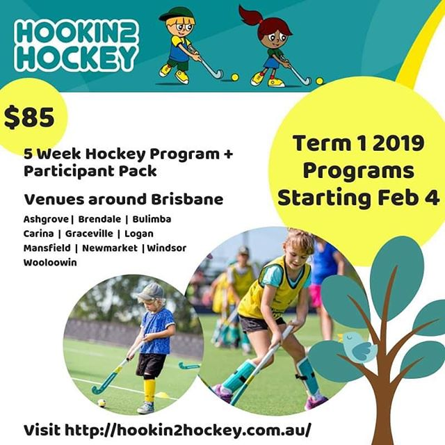 Hookin2Hockey Registrations NOW OPEN!  Visit https://hookin2hockey.com.au/program-finder and enter your postcode to find a program near you. $85 gets you a 5 week program*, a hockey pack and new experiences with friends!  This program is suitable for all children up to 10 years (as a guide). *bonus 5 week program at Windsor for FREE for all participating locations - Ashgrove, Brendale, Bulimba, Carina, Graceville, Logan, Mansfield, Newmarket, Wooloowin  Email rdo@bwha.com.au for more information.