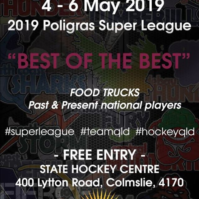 See you at Super League cheering on the Blitz and Fury teams 🏑😃🙌