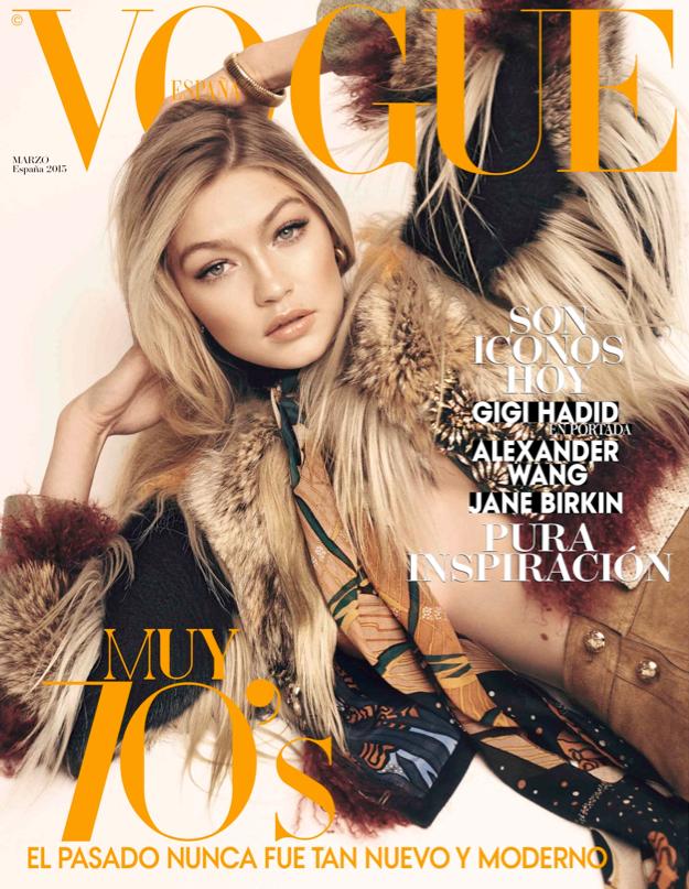 Benny Horne Spanish Vogue  Model Gigi Hadid Sty Sara Fernandez Castro  M-up Benjamin Puckey Mani Geraldine Holford Cover .png