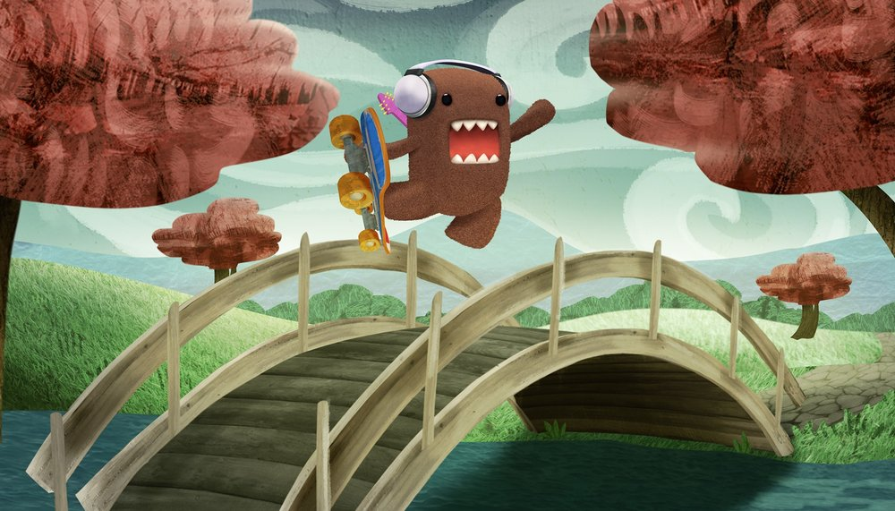 """Art Director, visual development and character design """"Domo Rocks!"""" Special for NHK with Little Airplane Productions"""