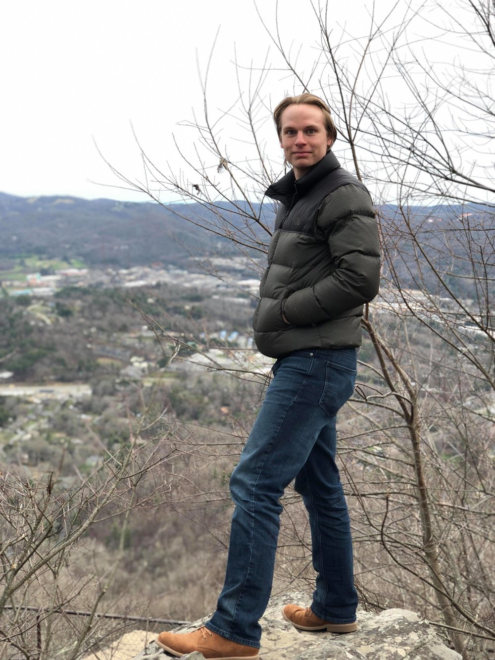Hiking in Boone, NC after 2nd place in 2018 Appalachian Guitar Festival