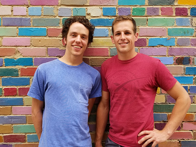 Ian (left) with Andrew (right).