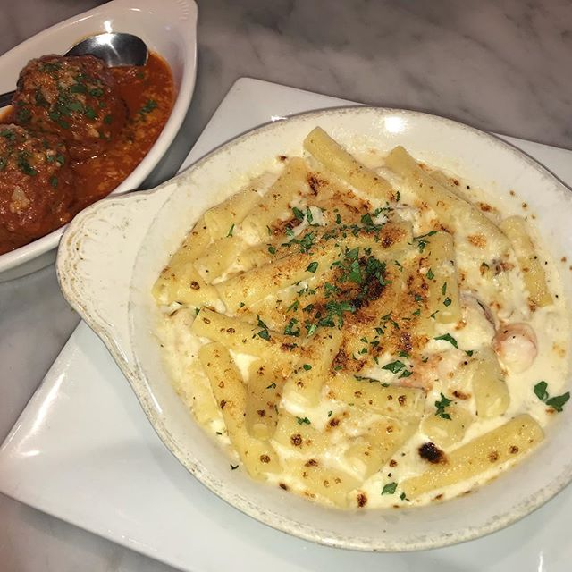 Ziti ai formaggi? House made spicy meatballs? Pancetta wrapped prawns?! Get all of this and more on our happy hour going on ALL DAY today AND tomorrow! #authenticitalian #happyhour #goodeats #seattlerestaurants