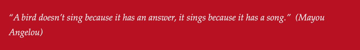 Give me a song to sing — Red Bird Ministries