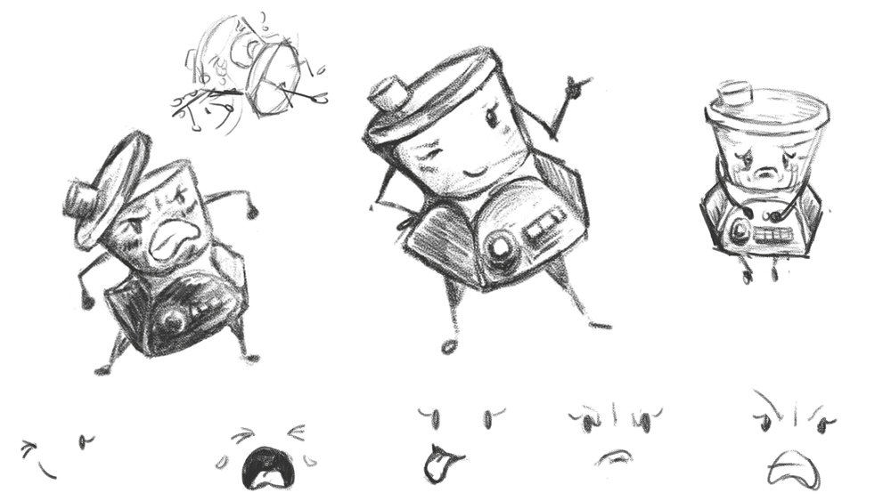 Kitty the Food Processor - Character Design