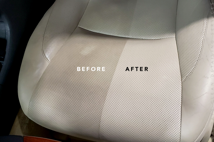 Interior Detail - Includes basic cleaning, steam cleaning, upholstery cleaning and treatment, floor mats, trim/panel treatment, fabric guard, and leather protectant.