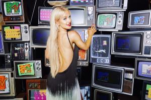 Gigi Gorgeous at Jeremy Scott Instagram Booth 2015 MTV VMAS