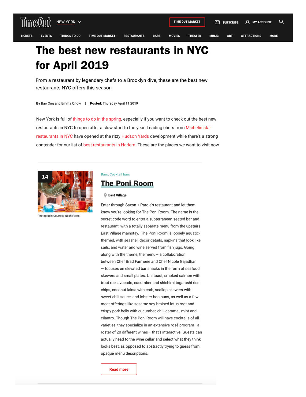 Time Out New York - Best New Restaurants in NYC 2019