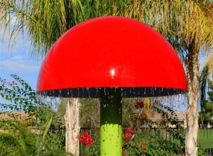 """30"""" Diameter Mushroom - with footing base"""