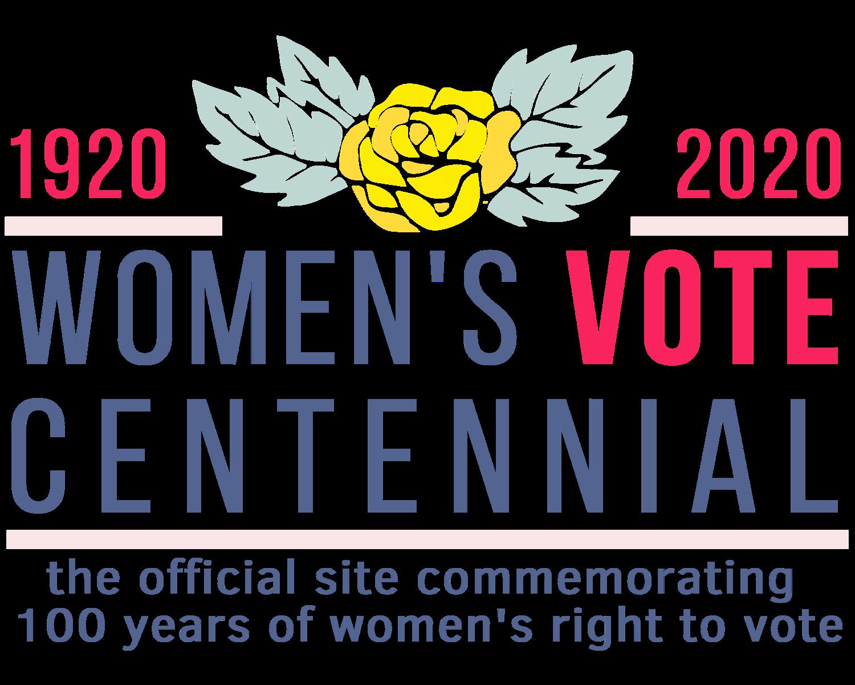 Logo for Women's  Vote Centennial