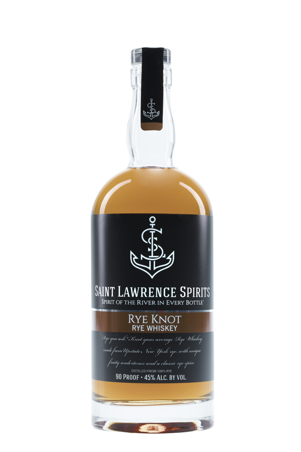 Rye Knot Rye Whiskey - 90 Proof. Smooth, Pepper, Ripe Fruit.