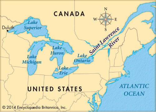 Us Map Of St.Lawrence River Now & Then: A Brief Glimpse at the History of the Saint Lawrence