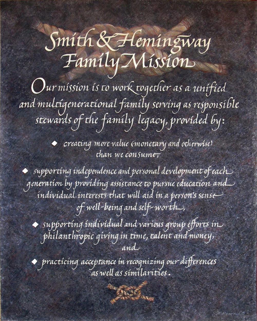 Smith & Hemingway Mission