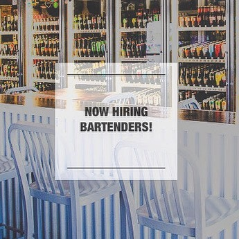 We're now seeking bartenders to join our team! Stop in and fill out an application!