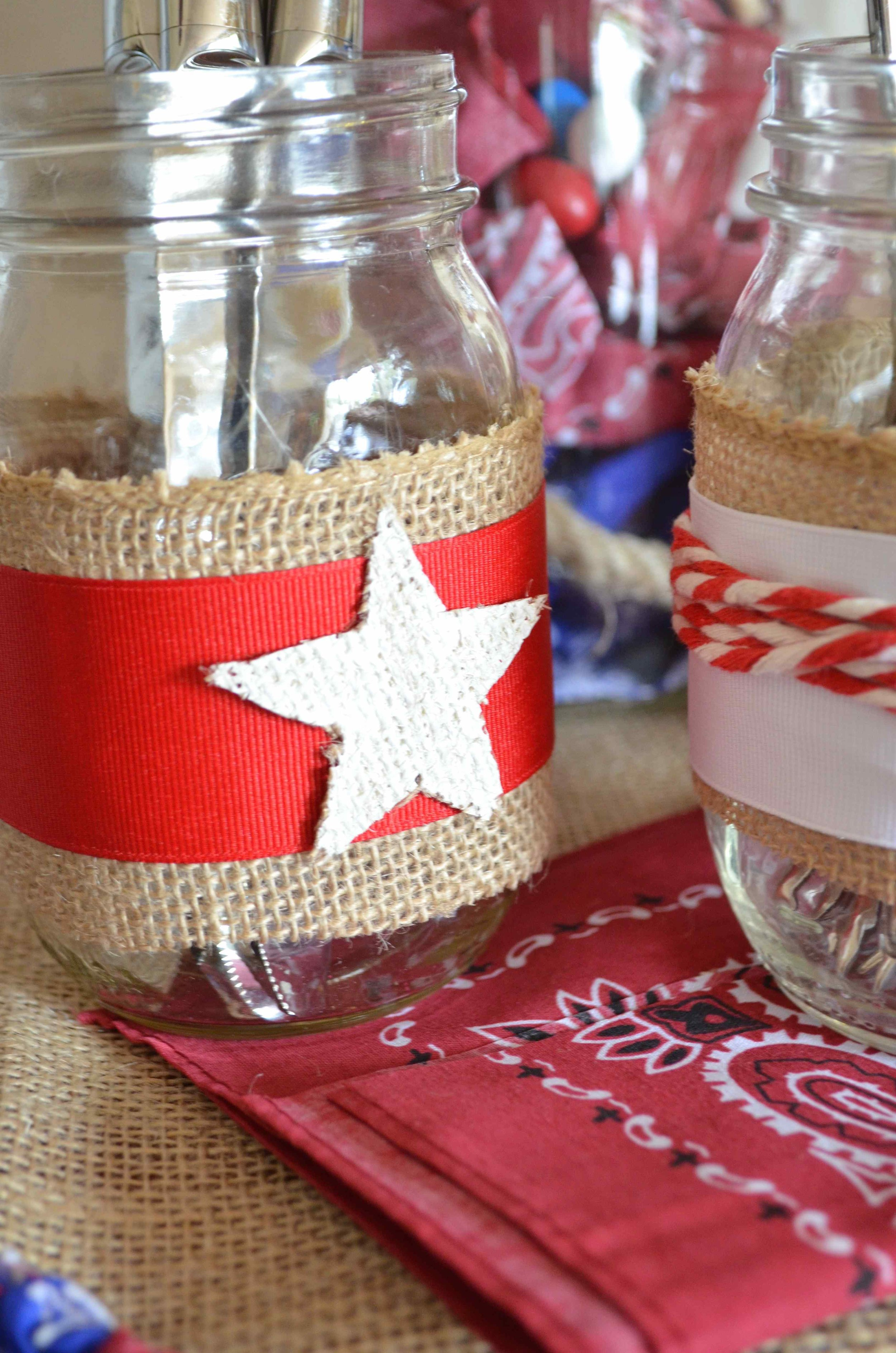 Red White Blue And Burlap Mason Jars From Scratch With Maria Provenzano