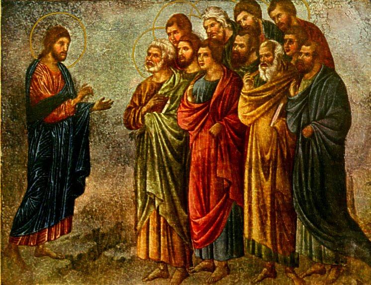 The Sending of the Apostles  by Duccio Buoninsegna (1311)