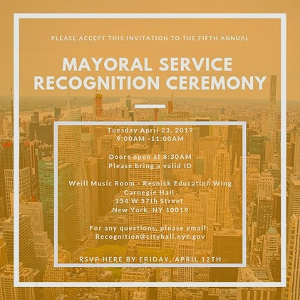 Mayoral Service Recognition Ceremony