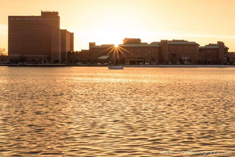 朴茨茅斯海军医院伊丽莎白河诺福克弗吉尼亚日落