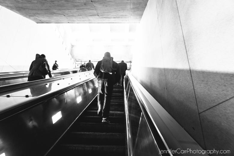 地铁中心,华盛顿特区,黑白摄影