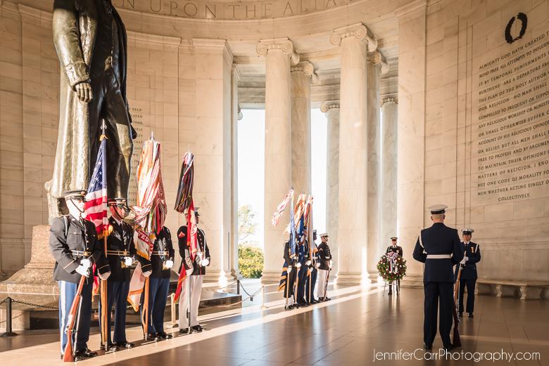托马斯·杰斐逊纪念堂华盛顿特区纪念碑花圈奠基仪式